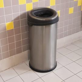 سطل زباله استیل درب بادبزنی 100