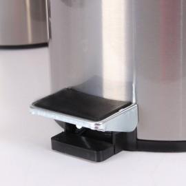 سطل پدالدار 5 لیتری Brasiana - نقره ای