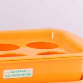 سینی لیوان یکبار مصرف 6 عددی مدل L60