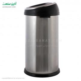 سطل زباله استیل درب بادبزنی N-100