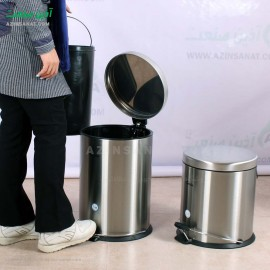 سطل زباله استیل پدالدار 20 لیتری CE-2000 - آرام بند