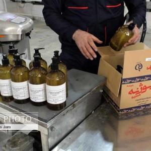 گزارش تصویری تولید محلول ضد عفونی بوژنه