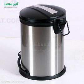 سطل استیل3 لیتری درب پلاستیک مدل  CE-03