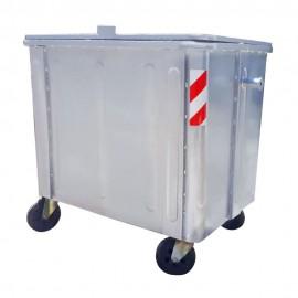 مخزن زباله گالوانیزه 1100 لیتری مکعب با درب فلزی (ورق2) مدل G11
