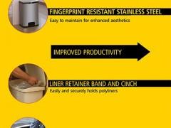مشخصات سطل زباله استیل
