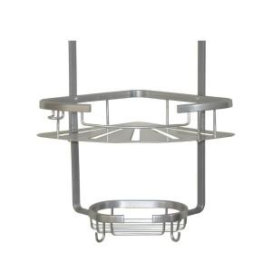 کنج آلومینیومی سه طبقه حمام مدل 300 (نقره ای)