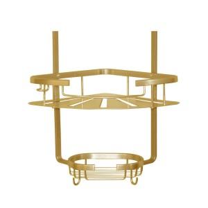 کنج آلومینیومی دو طبقه حمام مدل200(طلایی)