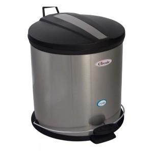 سطل استیل پدالدار 15 لیتری CE1510 درب پلاستیک