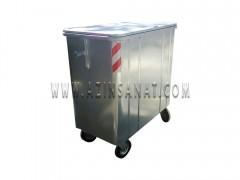 مخزن زباله 770 لیتری مکعب با درب فلزی ( با ورق 1.5)
