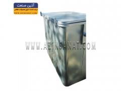 مخزن زباله مکعب با درب فلزی