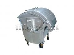 سطل زباله فلزی با درب قوس دار