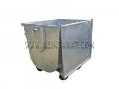 سطل زباله محدب با درب فلزی