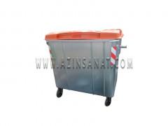 مخزن زباله 1100 لیتری مکعب با درب پلی اتیلن
