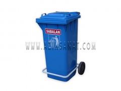مخزن زباله 240 لیتری پدالدار