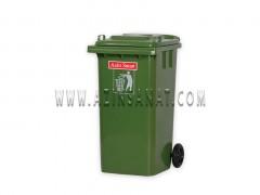 مخزن زباله صنعتی 240 لیتری پلی اتیلن