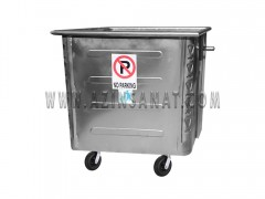 مخزن زباله 770 لیتری مکعب پرسی (ورق 1.5 )