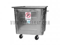 مخزن زباله 1100 لیتری مکعب پرسی (ورق 1.5)