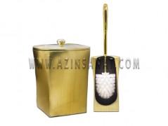 سطل و فرچه دستشویی رزین (گلدن)