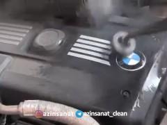 بخارشویی موتور خودرو