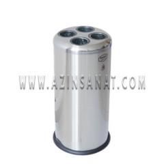 سطل لیوان یکبار مصرف بلند استیل 105