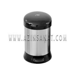 سطل پدالدار 3 لیتری استیل آرام بند AM - درب مشکی