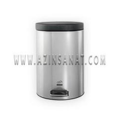 سطل زباله پدالدار استیل 14 لیتری