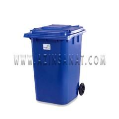 سطل زباله صنعتی چرخدار 360 لیتری