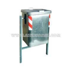 سطل فلزی پایه دار 120 لیتری