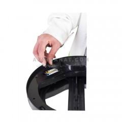 سطل استیل اتوماتیک 20 لیتری درب پروانه ای B200