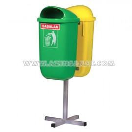 سطل زباله محوطه ای دوقلو