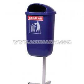 سطل زباله پارکی تک پایه