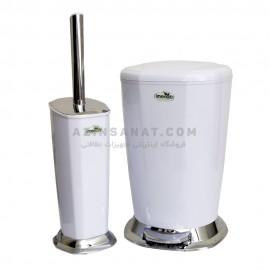 سطل پدالی و برس توالت Veniz