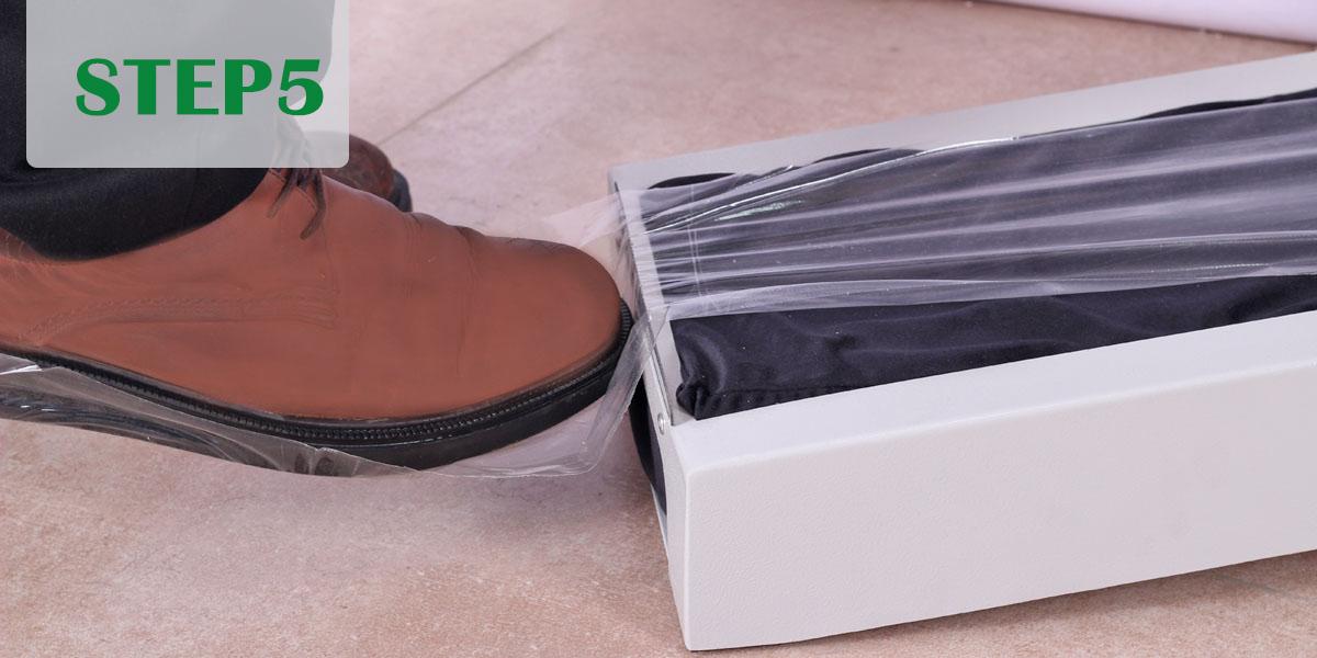 کاور کفش چسبی دستگاهی