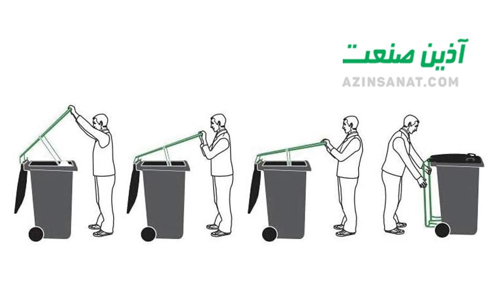 فشرده کننده زباله در سطل های صنعتی