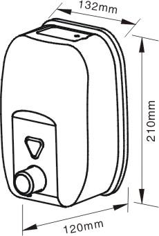 جاصابون مایع دستشویی استیل