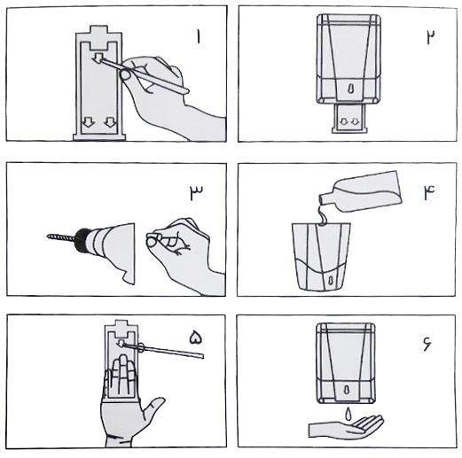 چگونگی نصب صابون ریز برقی