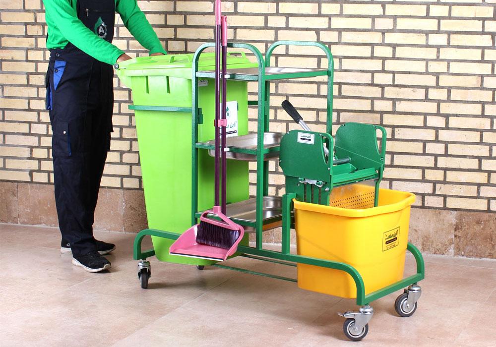 ترالی نظافت صنعتی و هتلی