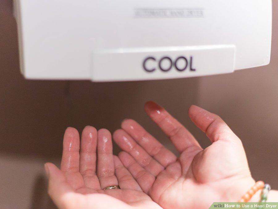 استفاده از دست خشک کن