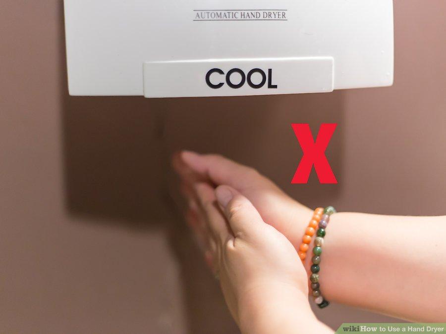 طرز استفاده از دست خشک کن