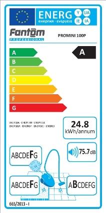 برچسب انرژی جاروبرقی هتلی فانتوم