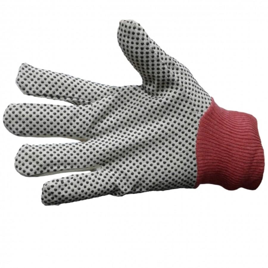 دستکش ایمنی مدل کتان دورو خالدار 14 اونس