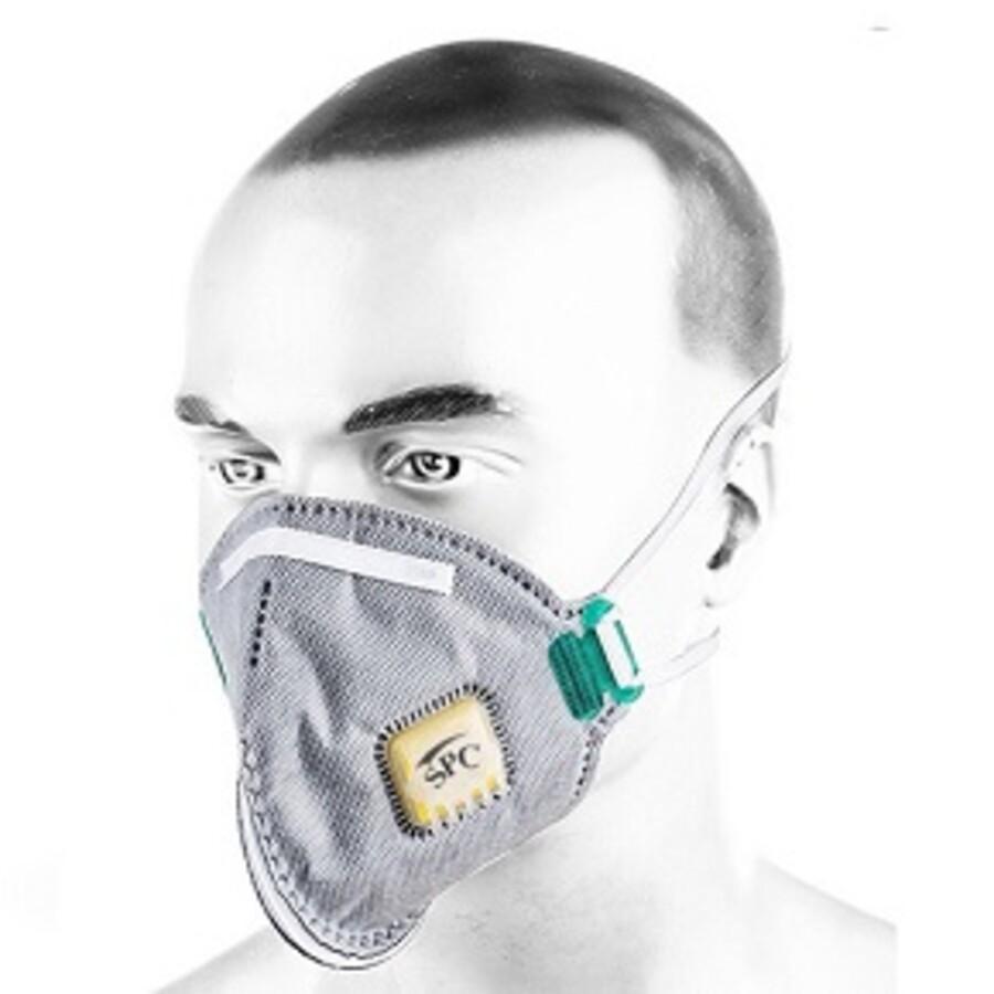ماسک سوپاپدار ffp2 برند SPC