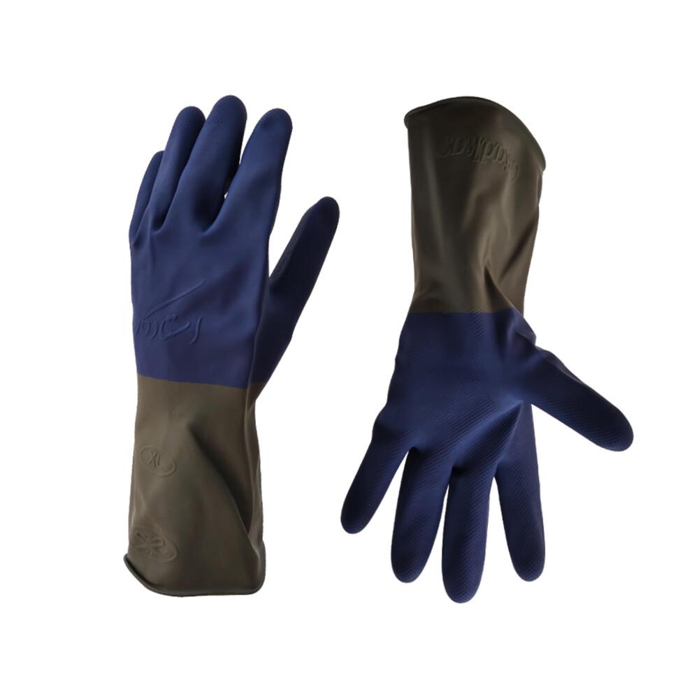 دستکش ایمنی استادکار مدل صنعتی دورنگ