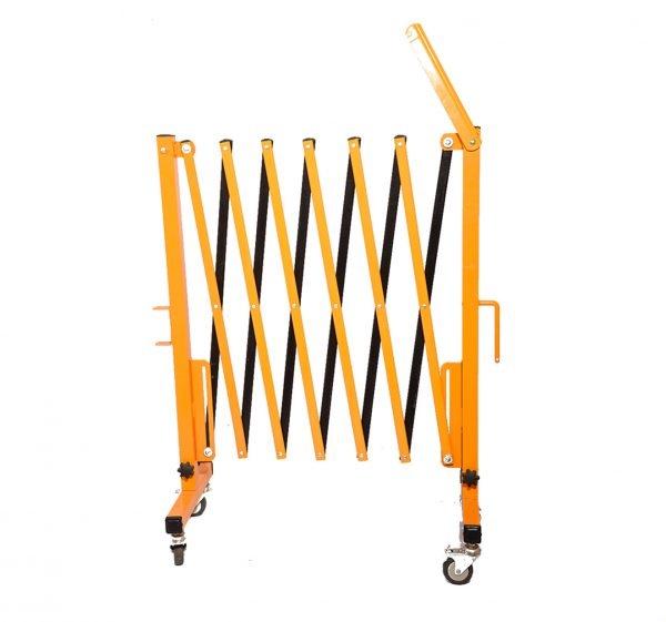 راهبند آکاردئونی فلزی چرخ دار