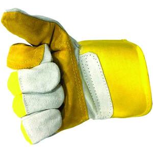 دستکش ایمنی مدل چرمی کف دوبل