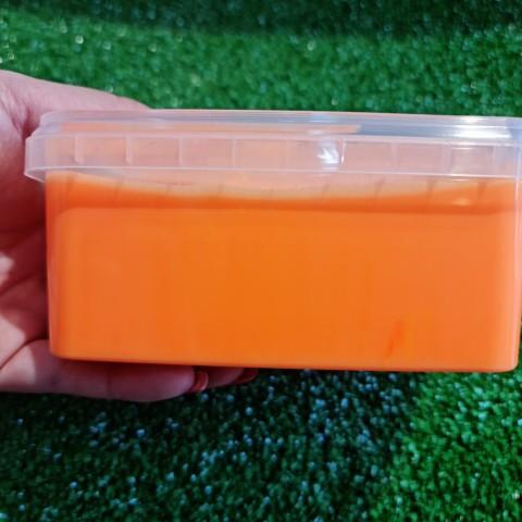 اسلایم کره ای پفکی 600 گرمی و یک کیلویی نارنجی