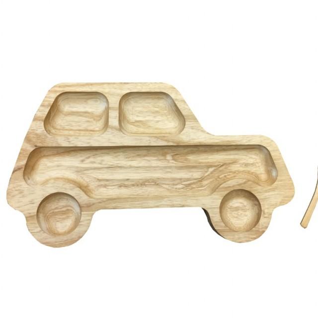 ظرف غذای کودک + قاشق چوبی کد 3433
