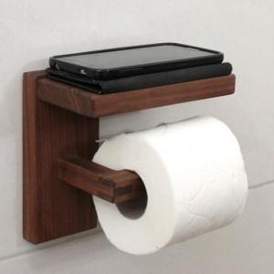 جای دستمال توالت چوبی کد 12005
