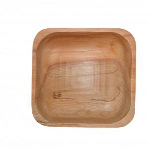 کاسه تمام چوب مربع _ A کد 161101
