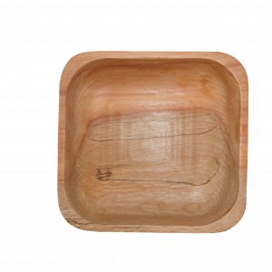 کاسه تمام چوب مربع _ C کد161103